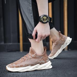 飞织椰子鞋男鞋2020新款夏季透气薄款跑步鞋男鞋子网面运动休闲鞋