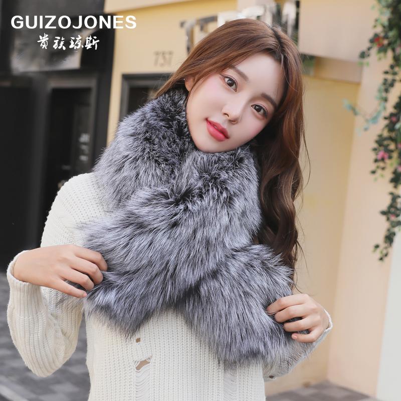 Jones nobility new winter fox fur scarves fur scarves unisex ovo collar big collar