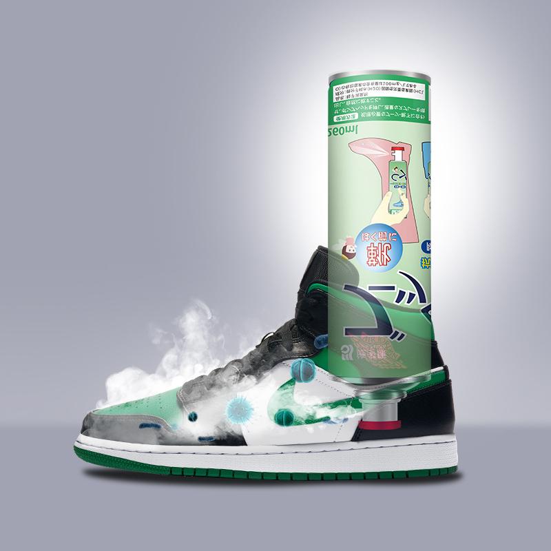 日本施多康鞋子除臭噴霧鞋襪除臭劑球鞋殺菌防臭腳臭鞋柜除味神器
