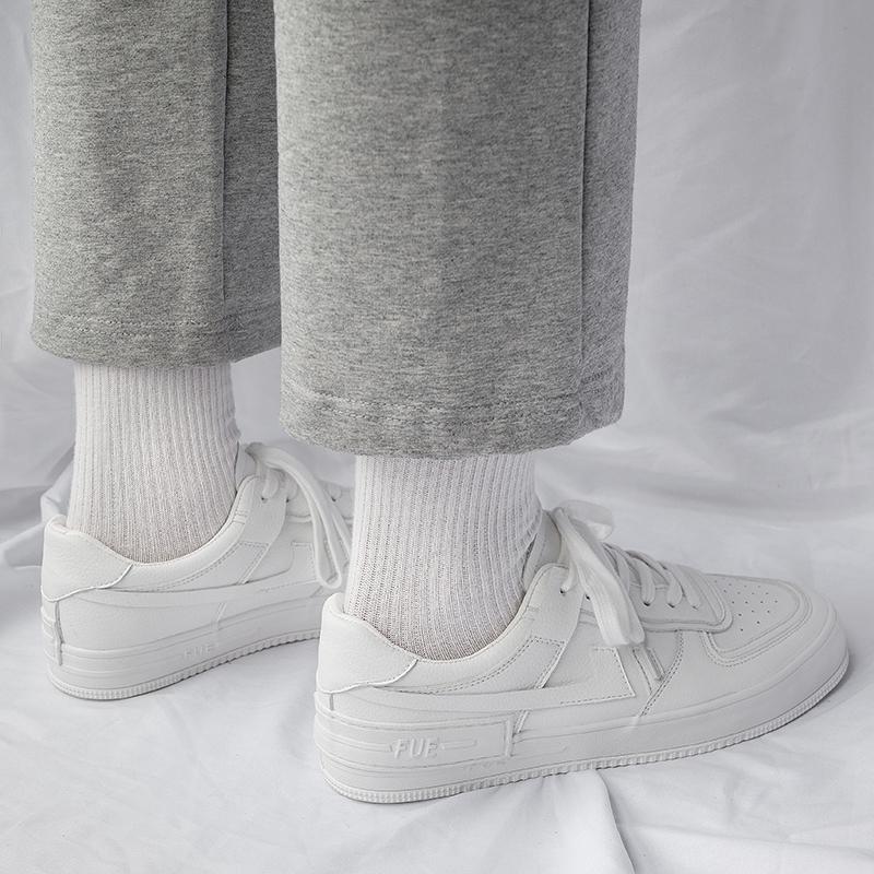 白色平板鞋男韩版潮流百搭运动休闲鞋子男潮鞋夏季透气学生小白鞋