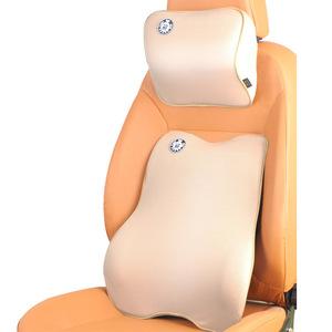 汽车头枕车用颈枕记忆棉护颈椎四季通用车载腰靠一对车内座椅用品