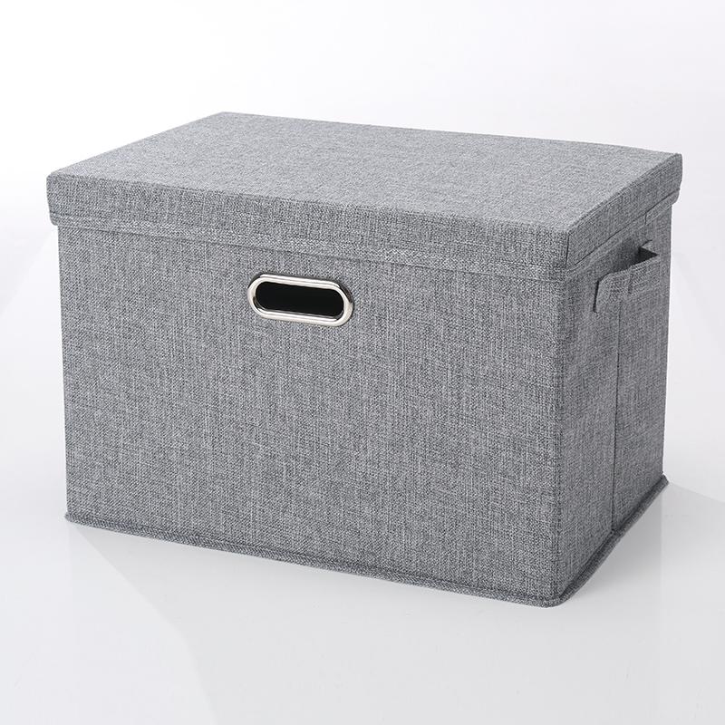 棉麻衣服收纳箱家用特大号衣柜收纳储物箱可折叠整理箱放衣服神器