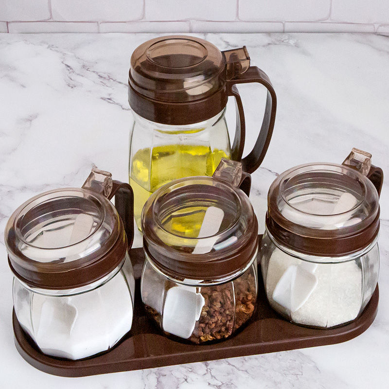 厨房调料盒套装家用组合装调料罐子玻璃盐罐调料瓶味精佐料盒油壶