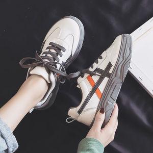 小白鞋女春季2020新款ins老爹鞋厚底增高百搭学生韩版运动鞋子女
