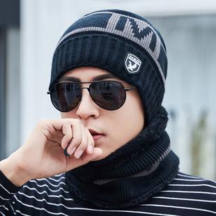 帽子男冬天加厚保暖针织毛线帽棉帽韩版潮青年防寒风骑车男士冬季