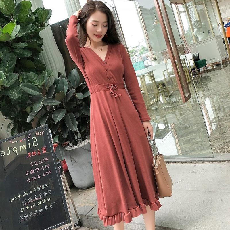 【沪铭】新款长袖时尚连衣裙