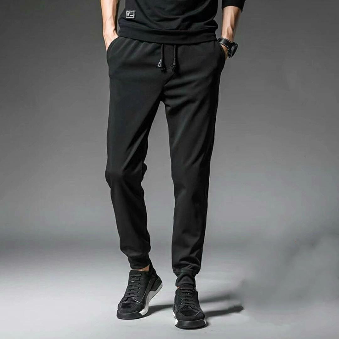 秋冬季加绒男裤男式休闲裤韩版哈伦裤束脚学生运动裤子潮