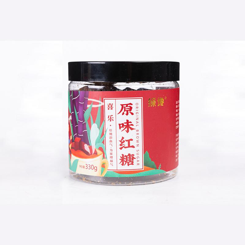 绿馋正品贵州土方红糖块罐装古法纯手工老红糖块经期产妇月子姨妈