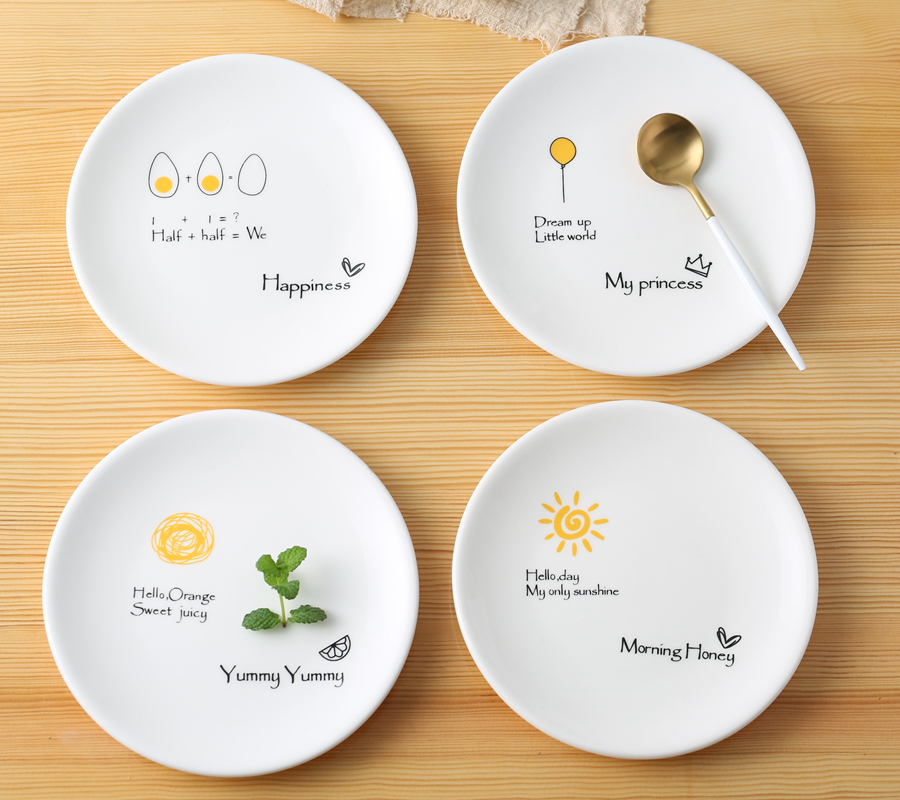 Creative cake child spit bones episode flavor small small plate snack food dish dessert ceramic household plates and the design