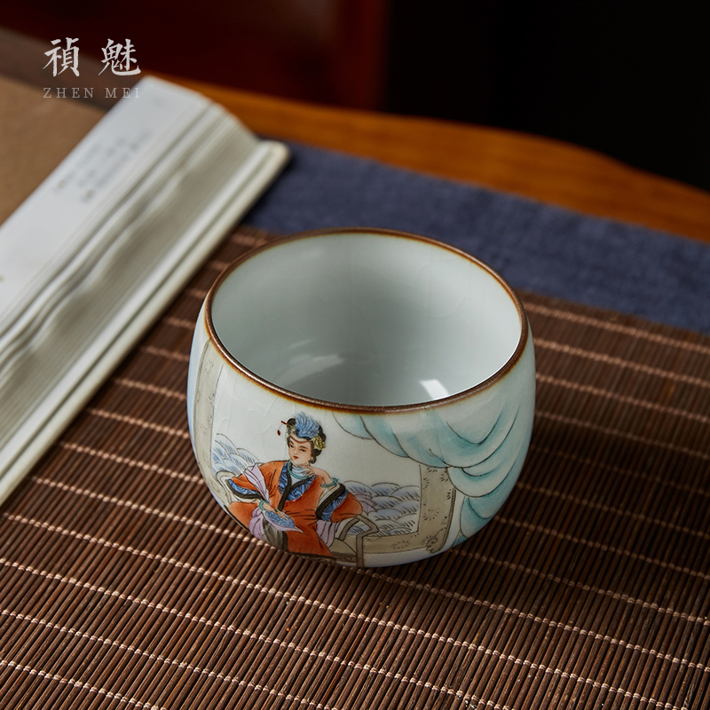 Shot incarnate your up hand - made production city phoenix jingdezhen ceramic cups kung fu tea master sample tea cup cup single CPU