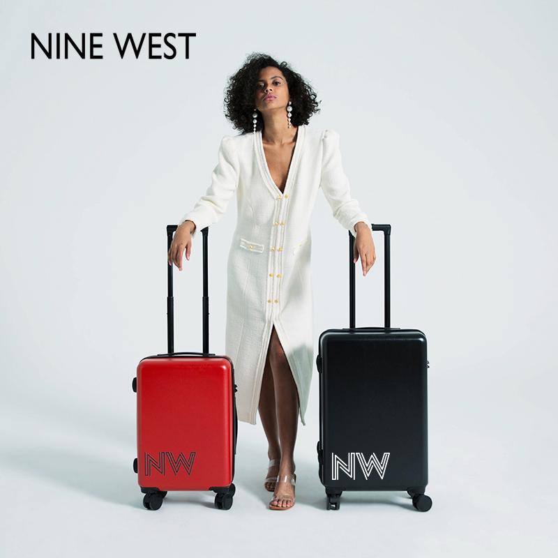Nine West/玖熙行李箱女万向轮20寸拉杆箱24寸小清新旅行箱密码箱
