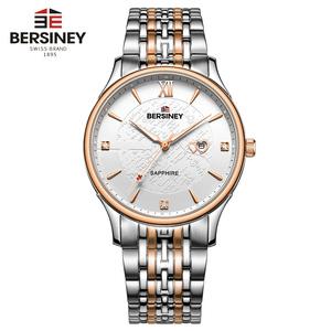 BERSINEY波西尼品牌时尚手表男大表盘进口机芯石英表防水将锋系列