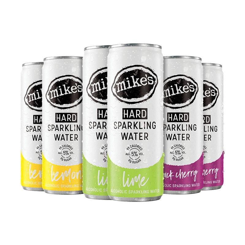 百威啤酒集团Mike's麦克斯裸气泡酒无糖清爽果酒女生酒0糖低卡6罐