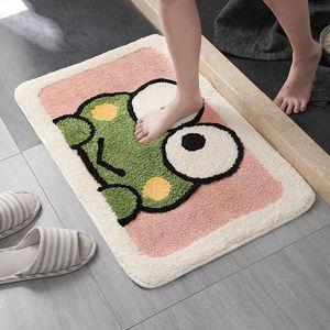 卡通可爱浴室卫生间吸水地垫厕所门口卧室地毯家用进门垫防滑脚垫