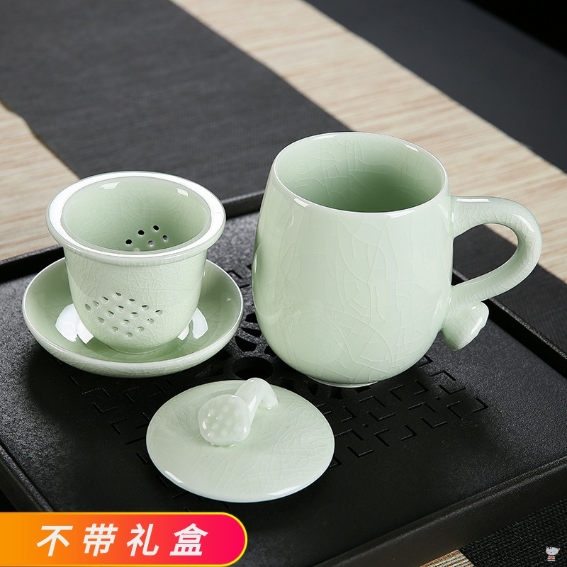 Utsuwa your up tea cup ice to crack the son office 4 times with cover ceramic filter to open the master single CPU