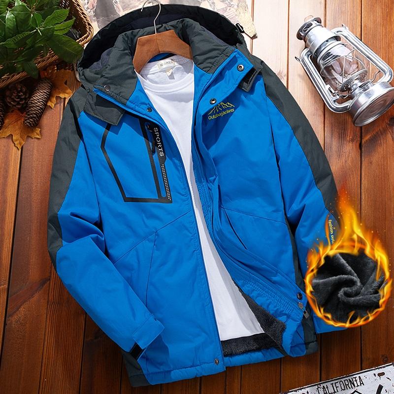 2020户外冲锋衣男加绒加厚保暖冬季单层防寒防水防风新款夹克外套
