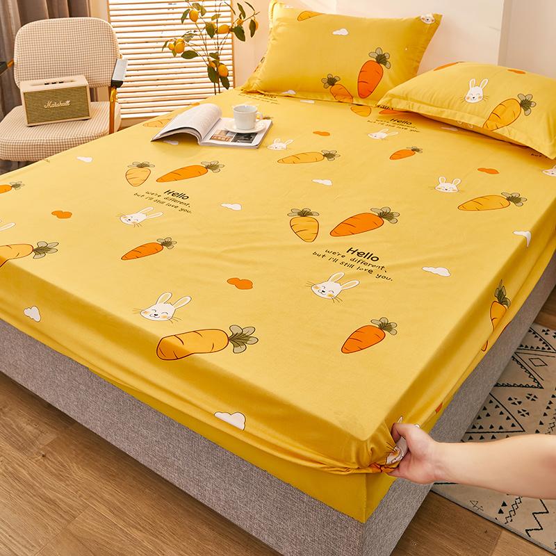 床笠单件水洗棉床单1.8m防滑固定防尘席梦思夹棉床垫保护套床罩