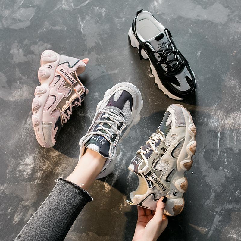 老爹鞋女2021春季新款透气百搭韩版运动鞋女ins学生跑步鞋FL7005