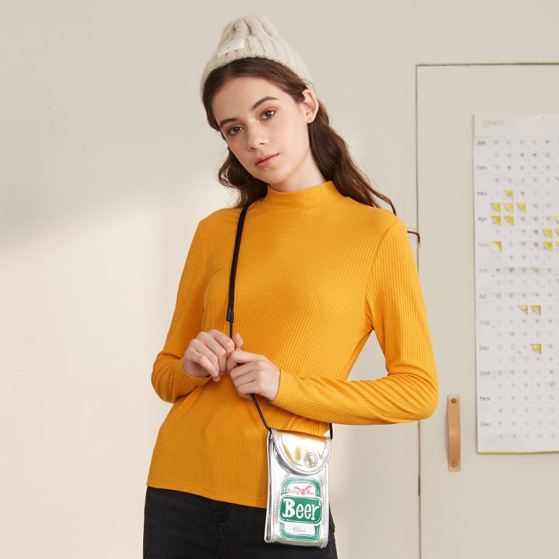A21 女式半高领薄款针织打底衫 天猫优惠券折后¥59包邮(¥109-50)3色可选