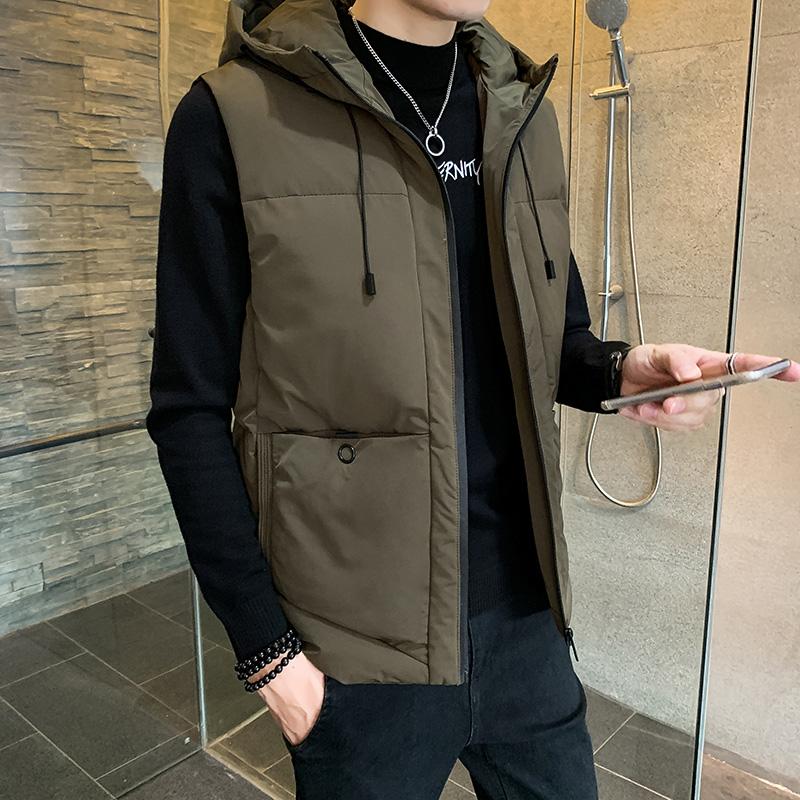 秋冬季马甲男士2020年休闲棉衣坎肩保暖外套韩版羽绒棉马夹男潮流