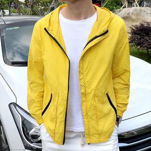 皮肤衣男运动户外风衣夏季超薄透气防水防晒服钓鱼轻薄单层外套