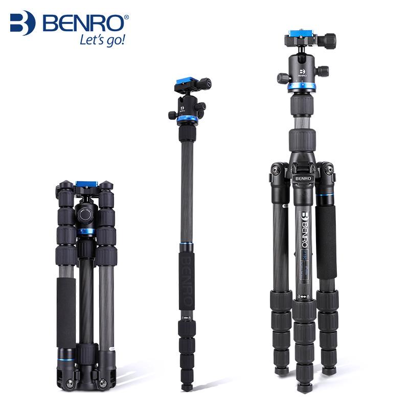 BENRO百诺IF19C便携碳纤维三脚架专业佳能尼康单反摄影三角架轻便旅行索尼微单相机脚架手机照相快手直播支架