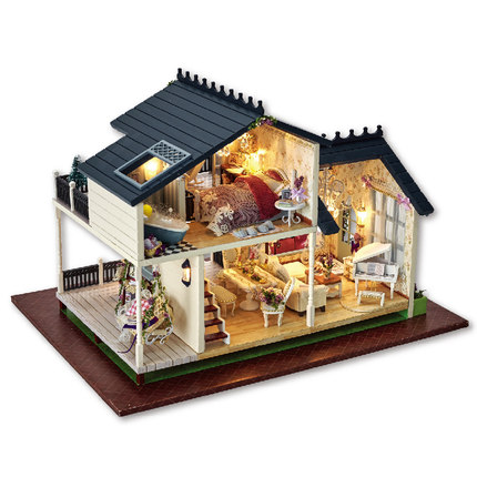 DIY House Model creative adult birthday gift cottage small house handmade model villa art house loft