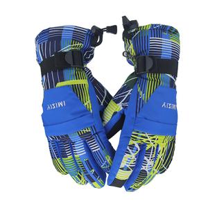 一字米男女士童款滑雪手套防水防风防滑防寒滑雪骑行加棉加绒冬天