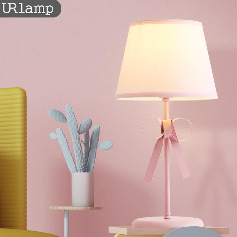 布施北欧公主风台灯 卧室 床头 创意 浪漫粉色儿童房女孩卧室台灯