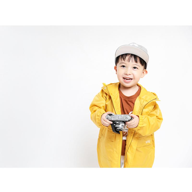 mipo儿童风衣外套衣服薄款中长款防水雨衣女2018春夏男宝宝上衣潮