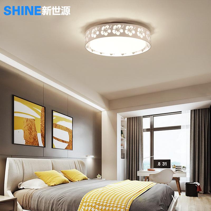简约现代led吸顶灯客厅灯浪漫温馨圆形卧室灯房间灯创意个性灯具+