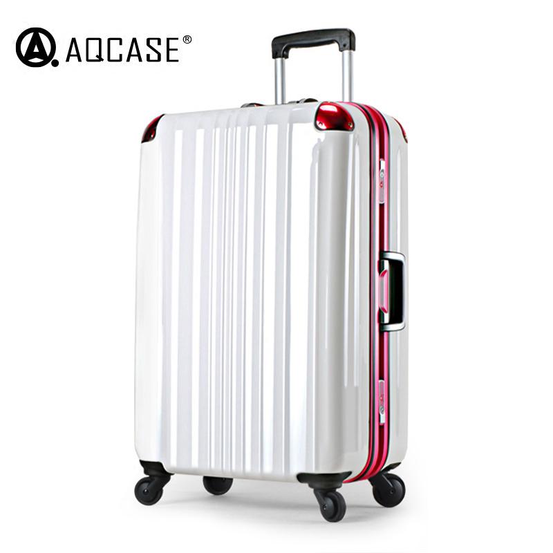 高端拉杆箱纯pc铝框行李箱万向轮出国托运旅行箱22-26-28寸海关锁
