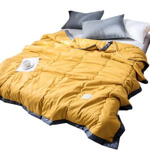 水洗棉空调被夏凉被双人夏季薄款被子儿童单人春秋夏天夏被可机洗