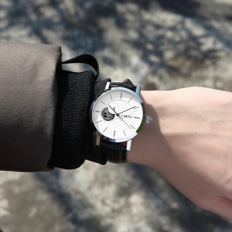 西亚尼手表男机械表全自动防水镂空品牌正品时尚2018新款男士表