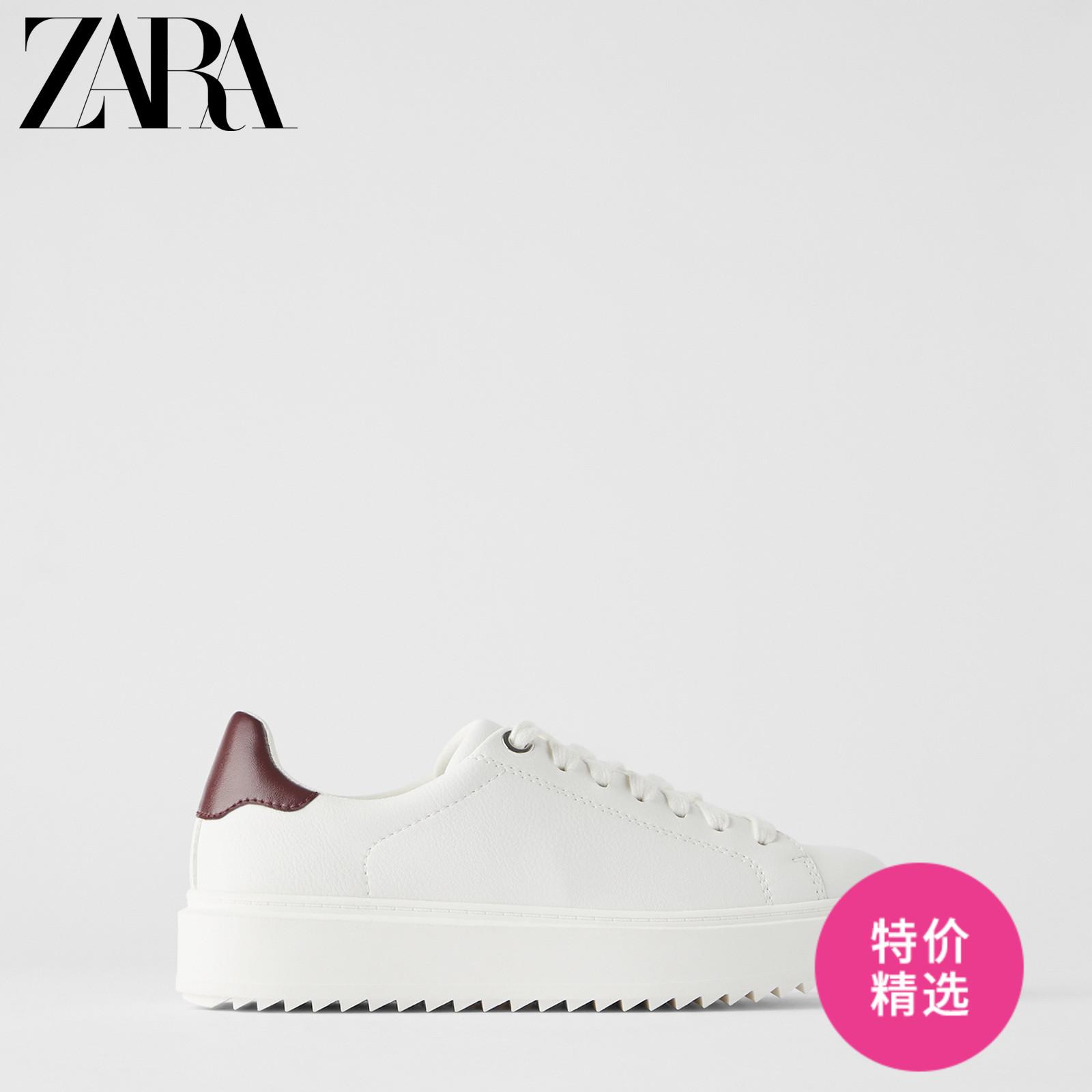 ZARA 新款 女鞋 白色防水台厚底增高运动鞋小白鞋 12426510001