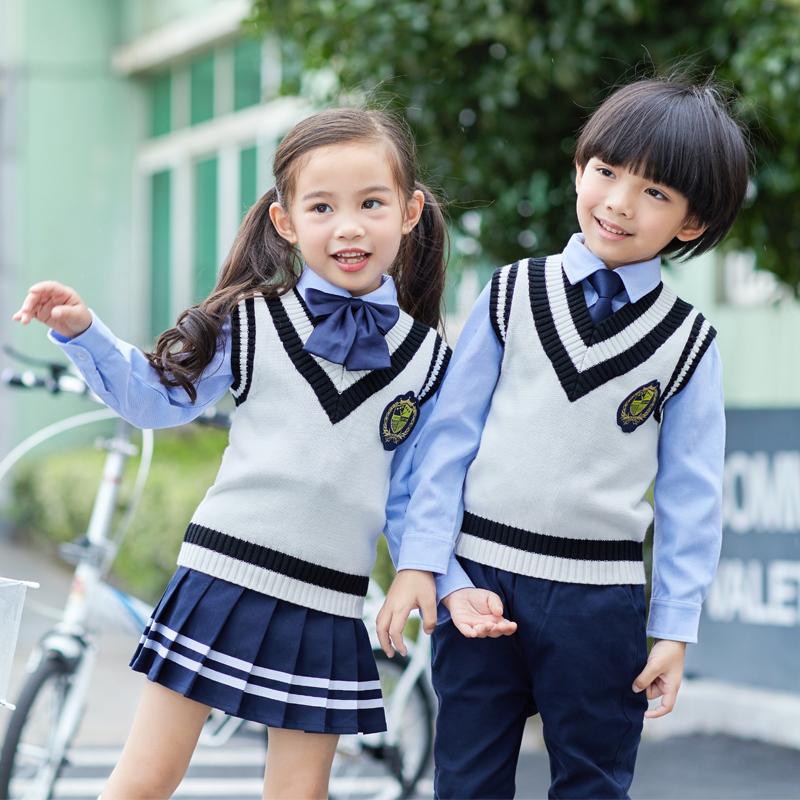 幼儿园园服春秋装秋季儿童学院秋款英伦风班服秋装小学生校服套装