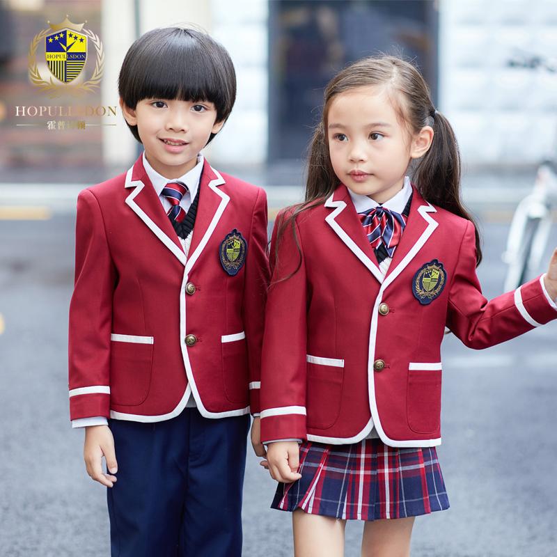 幼儿园园服秋冬装男女童装英伦风校服儿童西服套装小学生冬季班服