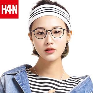 HAN防蓝光防辐射电脑眼镜近视眼镜女护眼护目镜平光镜圆框复古男