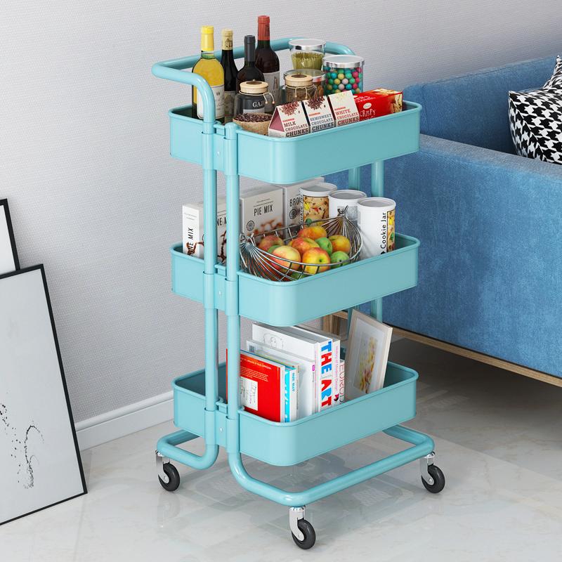 现代简约小推车可移动厨房置物架客厅卫生间落地多层储物收纳架