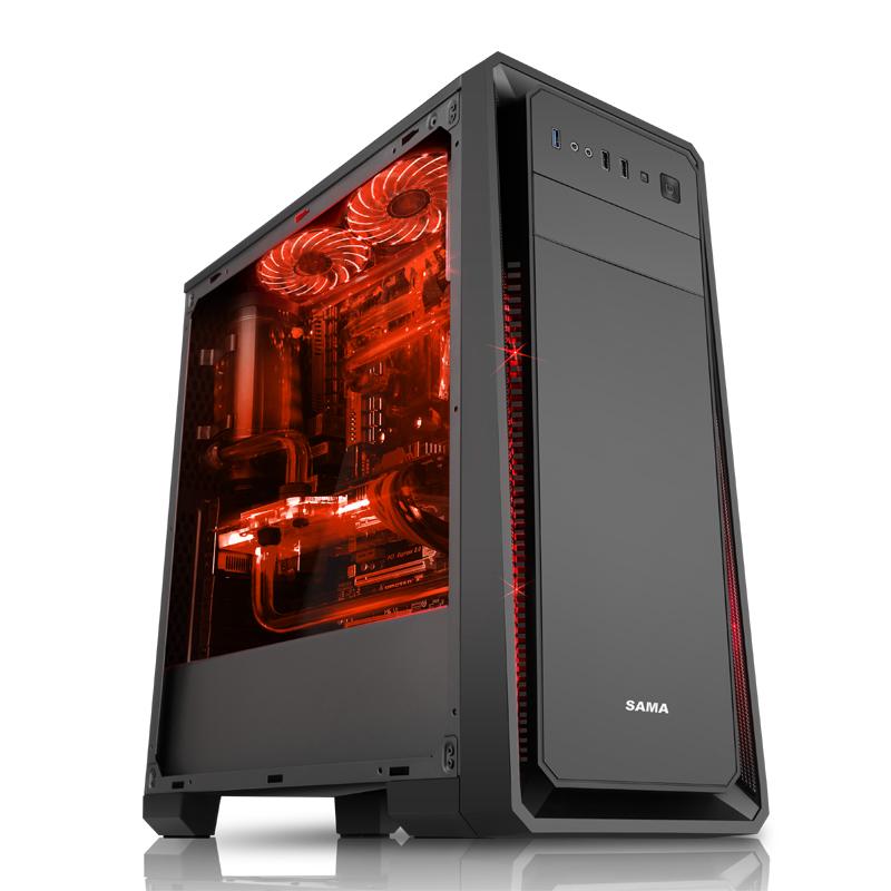 先马塞恩1-5 塔里克大侧透游戏主机箱U3下置电源台式电脑水冷机箱