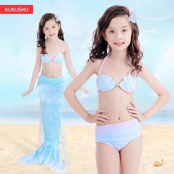 Kids Mermaid Swimsuit Girls Bikini Mermaid Tail With Finned Split Swimsuit Mermaid Dress Summer Swimsuit For Children Mother & Kids
