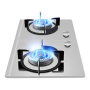 神州 D9228燃气灶双灶天然气液化气煤气灶家用台式嵌入式猛火节能