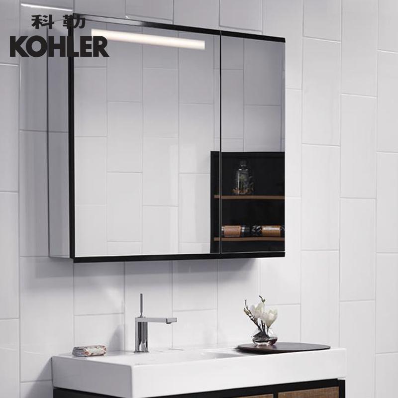 科勒博纳90-60梳洗化妆室挂墙式带灯镜柜防雾镜面储物镜柜96107T