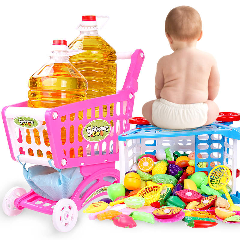 儿童购物车玩具 迷你超市推车真仿3-6周岁女孩大号宝宝过家家女童
