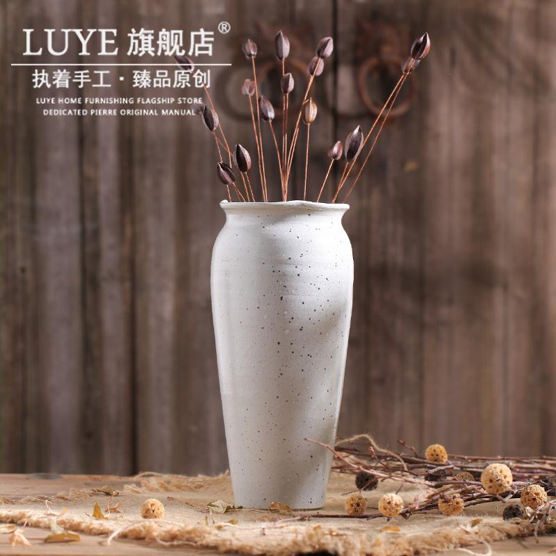luye现代简约白色花瓶摆件