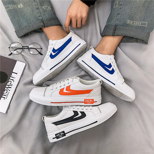 Little white shoes 2020 new men's shoes spring canvas shoes young students sports and leisure tide shoes wild shoes