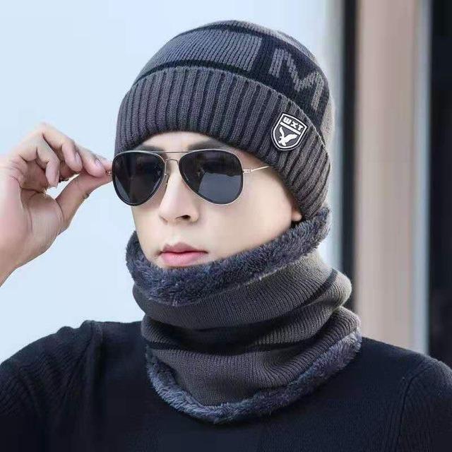 男士帽子冬季保暖针织帽韩版潮护耳帽青年棉帽男防寒护耳毛线帽子