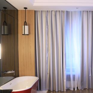 加厚全遮光布定制遮光窗帘布成品布料卧室客厅防晒隔热阳台遮阳布