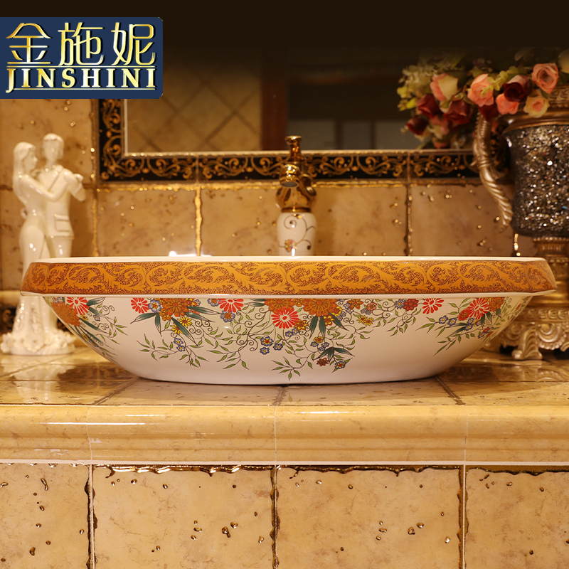 Basin of northern Europe on the rural contracted large art ceramic oval sink on the sink