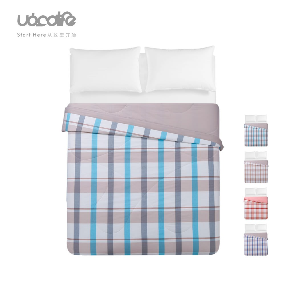 全棉色织水洗棉空调被可水洗夏凉被纯棉夏被单双人夏天薄被子被芯